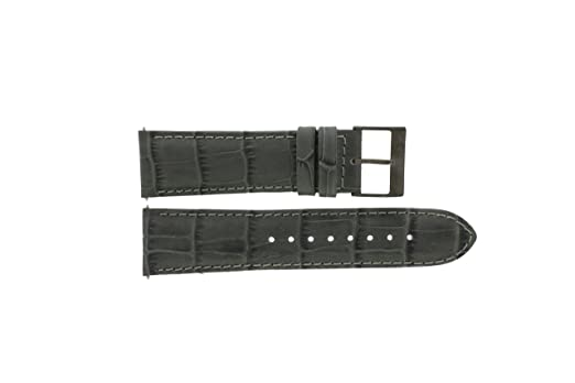 05e0113402 Guess Watch Strap W19531G1 Leather Grey 24mm (Only Watch Strap - Watch NOT  Included!)  Amazon.co.uk  Watches