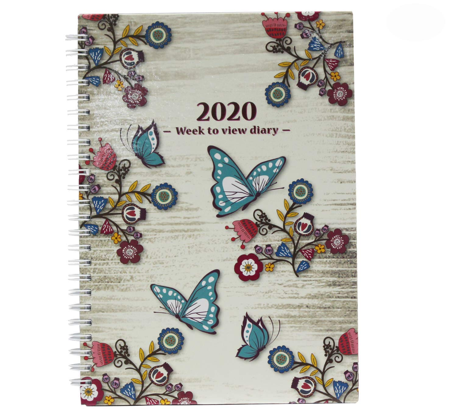 2020 A5 Week to View Diary Vintage Design Busy Life Agenda Diary by Arpan (Vintage Cream)