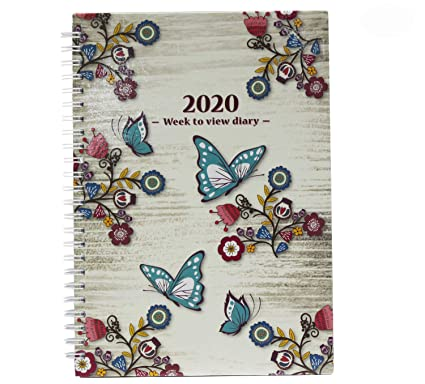 Agenda de 2020, tamaño A5, vista semanal, diseño vintage ...