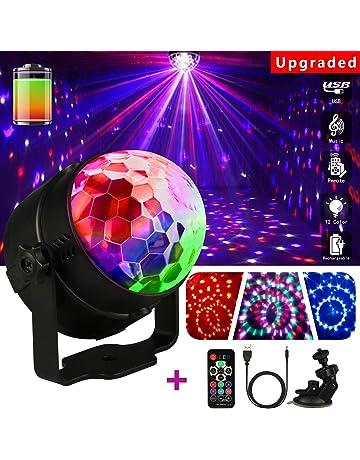 LED Bola de Discoteca,Emooqi Strobe Light sonido bola de discoteca LED Party lámpara +