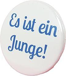 Es ist einJunge Button - Anstecker Babyshower Mama Geschenk Geburt Birth Baby Boy 3,8 cm JGA