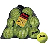 Penn Pelotas de Tenis sin presión, 12 Bolsas de Malla