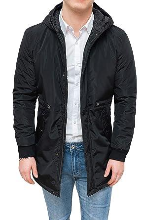 ba994531b33e8 Evoga Giacca Invernale Uomo Impermeabile Casual Cappotto Trench con  Cappuccio  Amazon.it  Abbigliamento