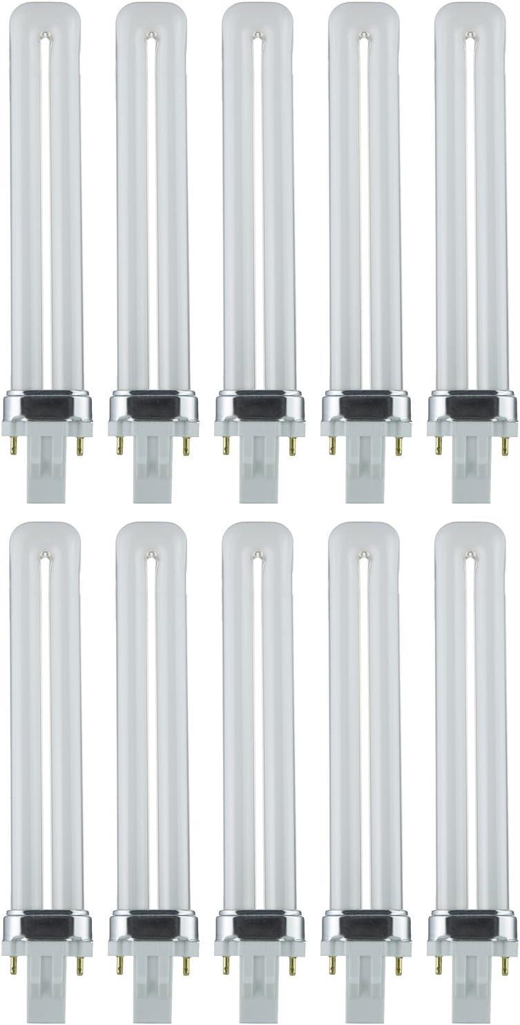 6500K Sunlite PL13//SP65K 13-Watt Compact Fluorescent Plug-In 2-Pin Light Bulb 4 Pack