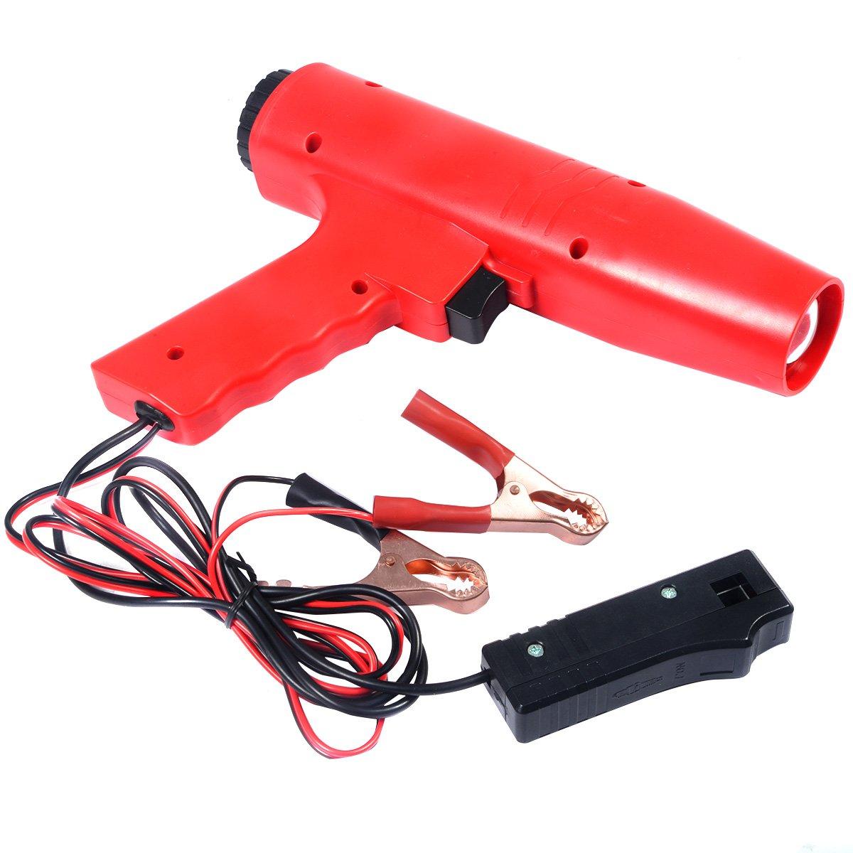 COSTWAY Z/ündlichtpistole Blitzpistole Z/ündeinstelllampe Stroboskoplampe Z/ündung 12V Z/ündzeitpunkt 8000r//min