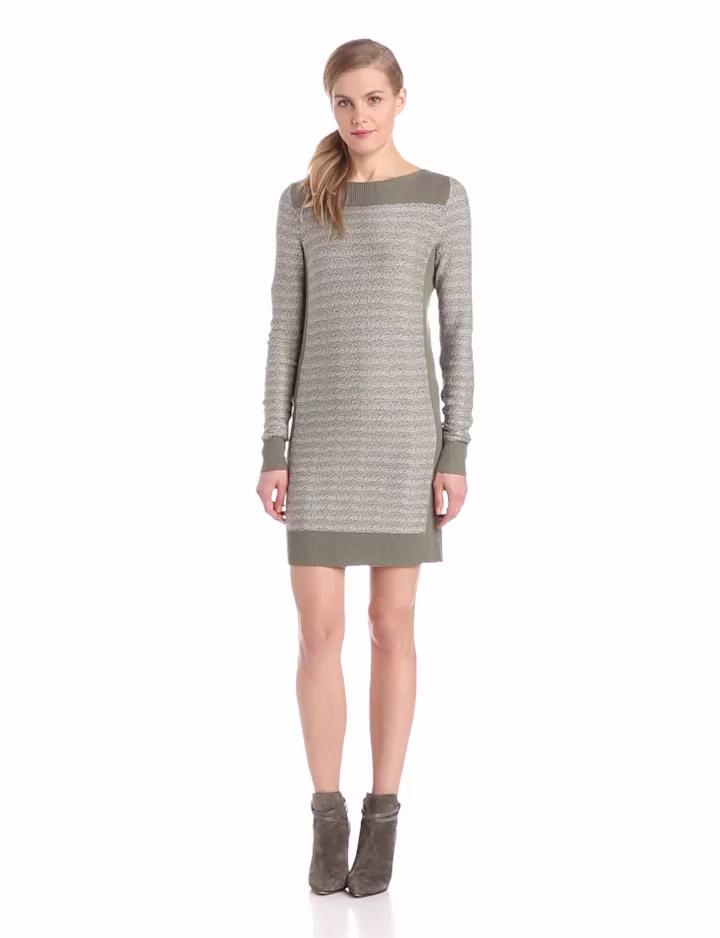 Calvin Klein Jeans Womens Sweater Dress, Rosemary, Medium
