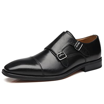 online store 3dcbb 00688 Amazon.com   La Milano Mens Double Monk Strap Slip on Loafer Cap Toe  Leather Oxford Formal Business Casual Comfortable Dress Shoes for Men    Loafers   Slip- ...