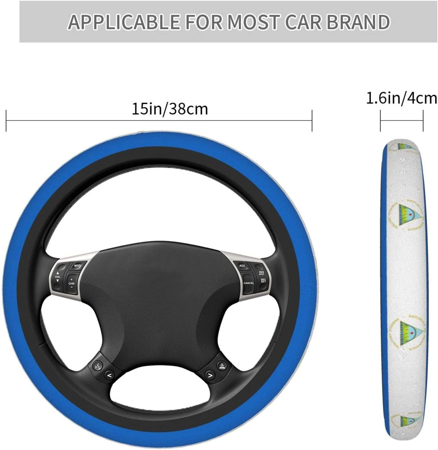 Nicaragua Flag Car Steering Wheel Cover Fashion Car Steering Wheel Cover Universal Size