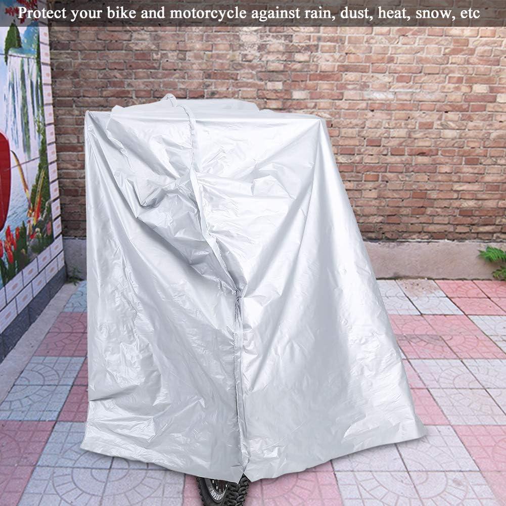 Dilwe Funda de Lluvia para Motocicletas de PEVA Protecci/ón UV a Prueba de Polvo Impermeable