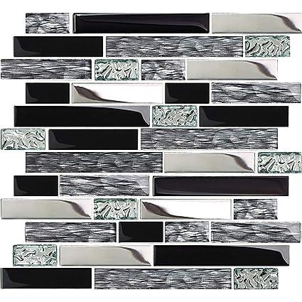 Amazon.com: TST TSTNB12 - Azulejos metálicos de cristal ...