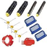 Replacement Parts Kit Bristle Brush & Flexible Beater Brush & Aero Vac Filter & Armed-3 Side Brush for iRobotAnewise Roomba 600 Series 610 620 630 650 650 655 660 690 Vacuum Cleaner