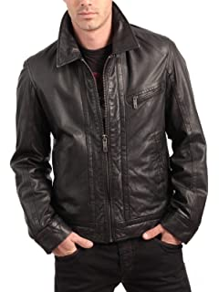 Woojo Mens Leather Biker Jacket WJ018