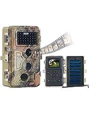 VisorTech Wildtierkamera: Full-HD-Wildkamera, 3 Bewegungssensoren, Nachtsicht, Farbdisplay, IP66 (Garten Kamera)