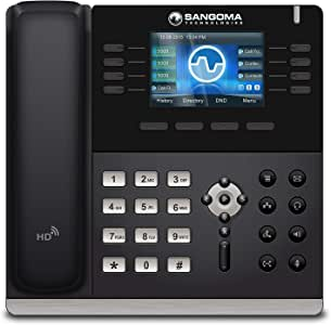 Amazon Com Sangoma S505 Voip Phone With Poe Or Ac Adapter Sold Separately Model Phon S505 Electronics