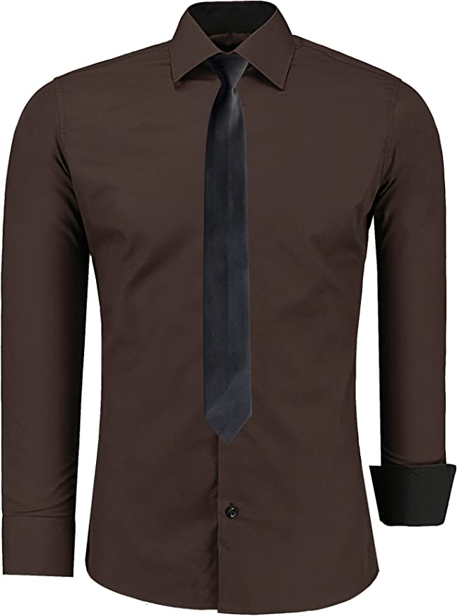 Jeel - Camisa Informal de Vestir para Hombre, Manga Larga, para ...