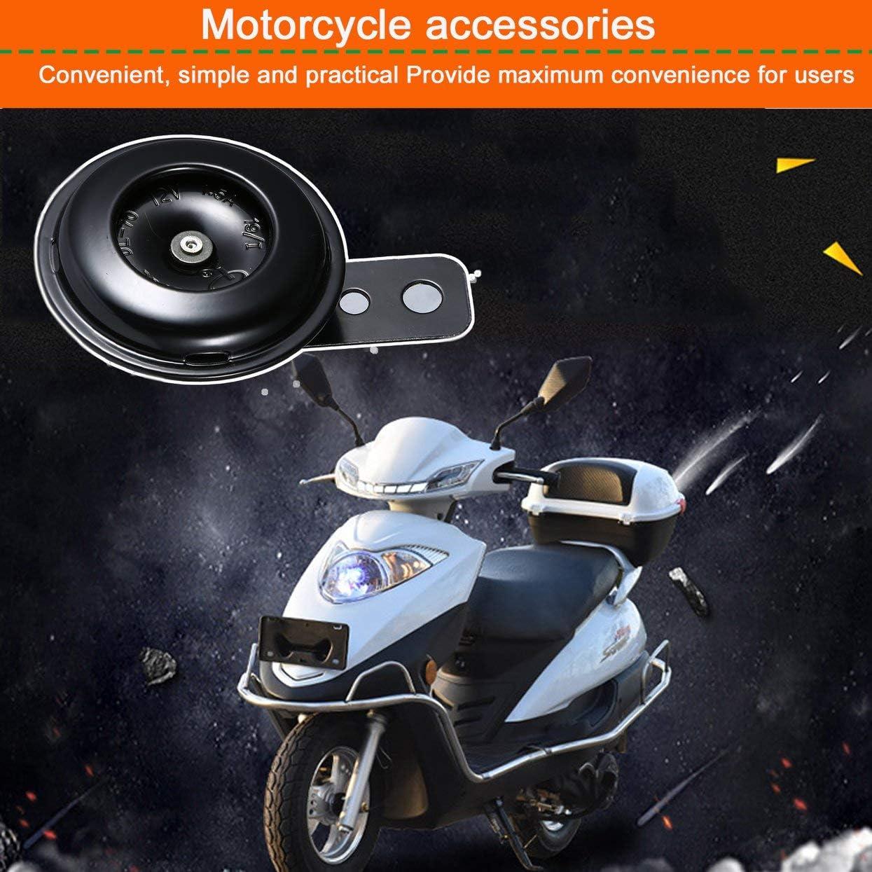 Kit avvisatore acustico elettrico universale per moto 12V 1.5A 105db Altoparlanti a tromba acustica impermeabili rotondi per scooter Dirt Bike ATV