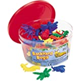 Learning Resources Backyard Bugs Counters, Educational Counting and Sorting Toy, Set of 72