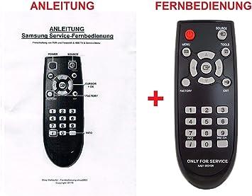 Mando a Distancia de Servicio para Samsung Smart TV Serie M/MU para desactivar PVR y TimeShift: Amazon.es: Electrónica