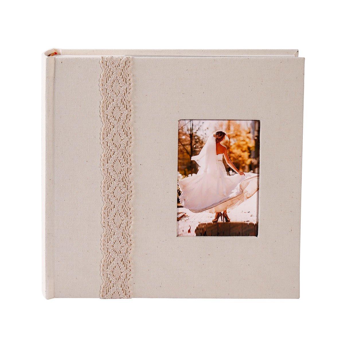 FaCraft Wedding Photo Album (Beige,Lace 200 4x6)