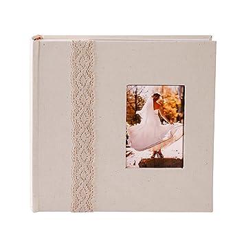 Amazoncom Facraft Wedding Photo Album Beigelace 200 4x6 Home