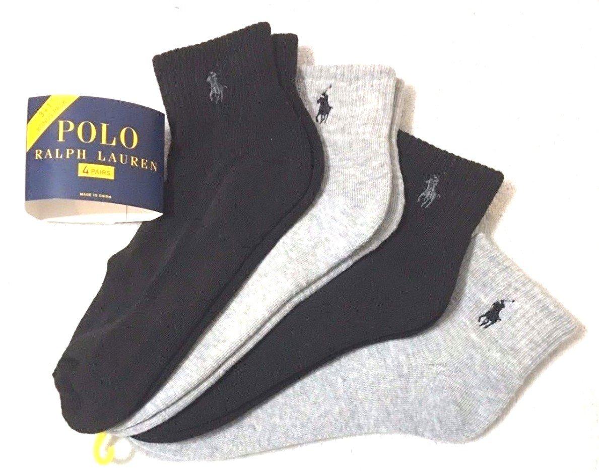 Ralph Lauren Polo Calcetines para Tobillo (4 Pares), Color Gris y ...
