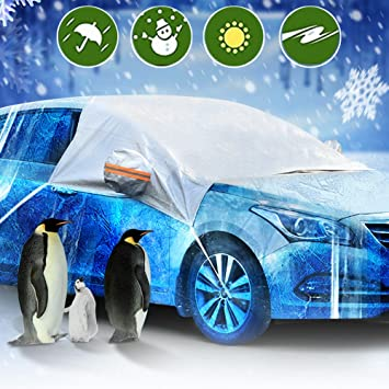 Hxlong Auto Abdeckung Scheibenschutz Frostabdeckung Frontscheibe Windschutzscheiben Winterschutz Scheibenabdeckung Winterabdeckung Eisschutz Schneeschutz Hitzeschutz Auto