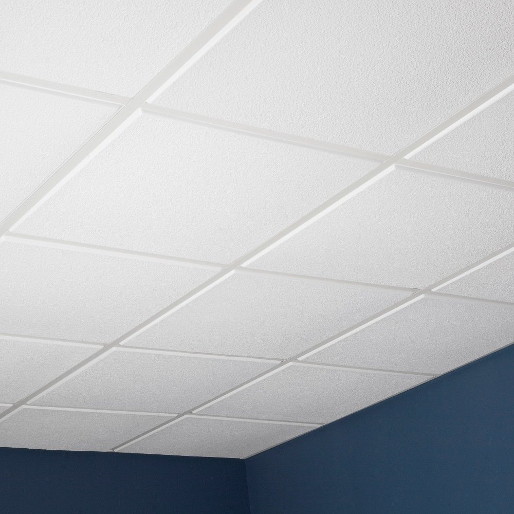 Amazon genesis stucco pro revealed edge white 2x2 ceiling amazon genesis stucco pro revealed edge white 2x2 ceiling tiles 3 mm thick carton of 12 these 2x2 drop ceiling tiles are water proof fast and dailygadgetfo Gallery