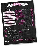 "Jennakate- Chalkboard Design- Magnetic Child Behavior Reward Chore Chart-Daily Household Chore Checklist-Job Chart- Dry Erase- 11""x14"""