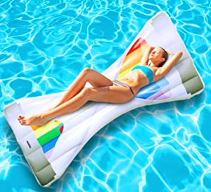 Pool Floats Inflatable Swim Pool Floats Water Raft Float Toys Large Blow Up Summer Beach Swimming Lounger Float Party Toys Lounge Raft for Adults Kids