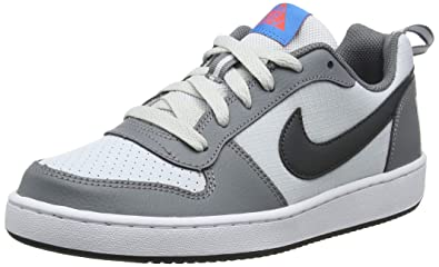 low priced 7dc84 76d57 Nike Mädchen Court Borough Low (Gs) Basketballschuhe Grau (Cool  Grey/Anthracite/