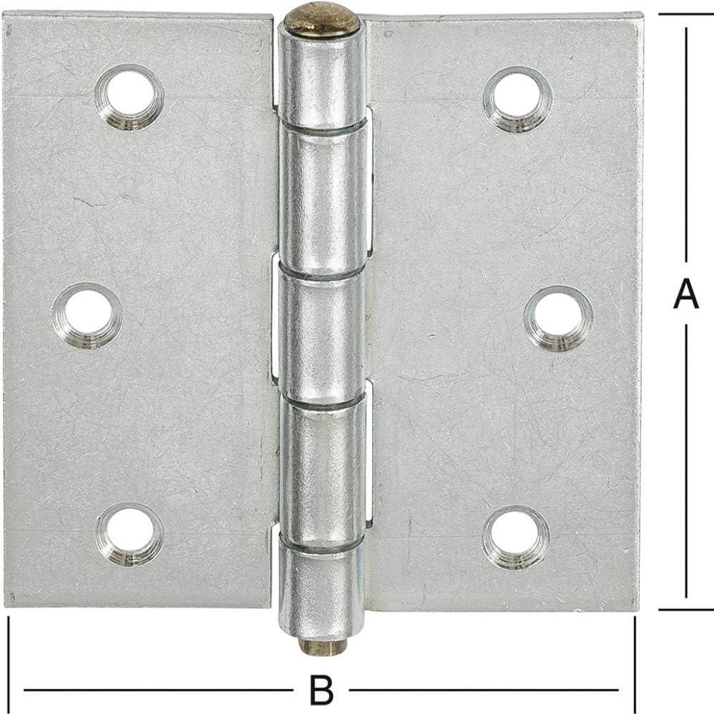 CHARNI/ÈRE-stylo carr/é en vrac roulettes /ø 8,8 x 63 x 63 mm en acier galvanis/é
