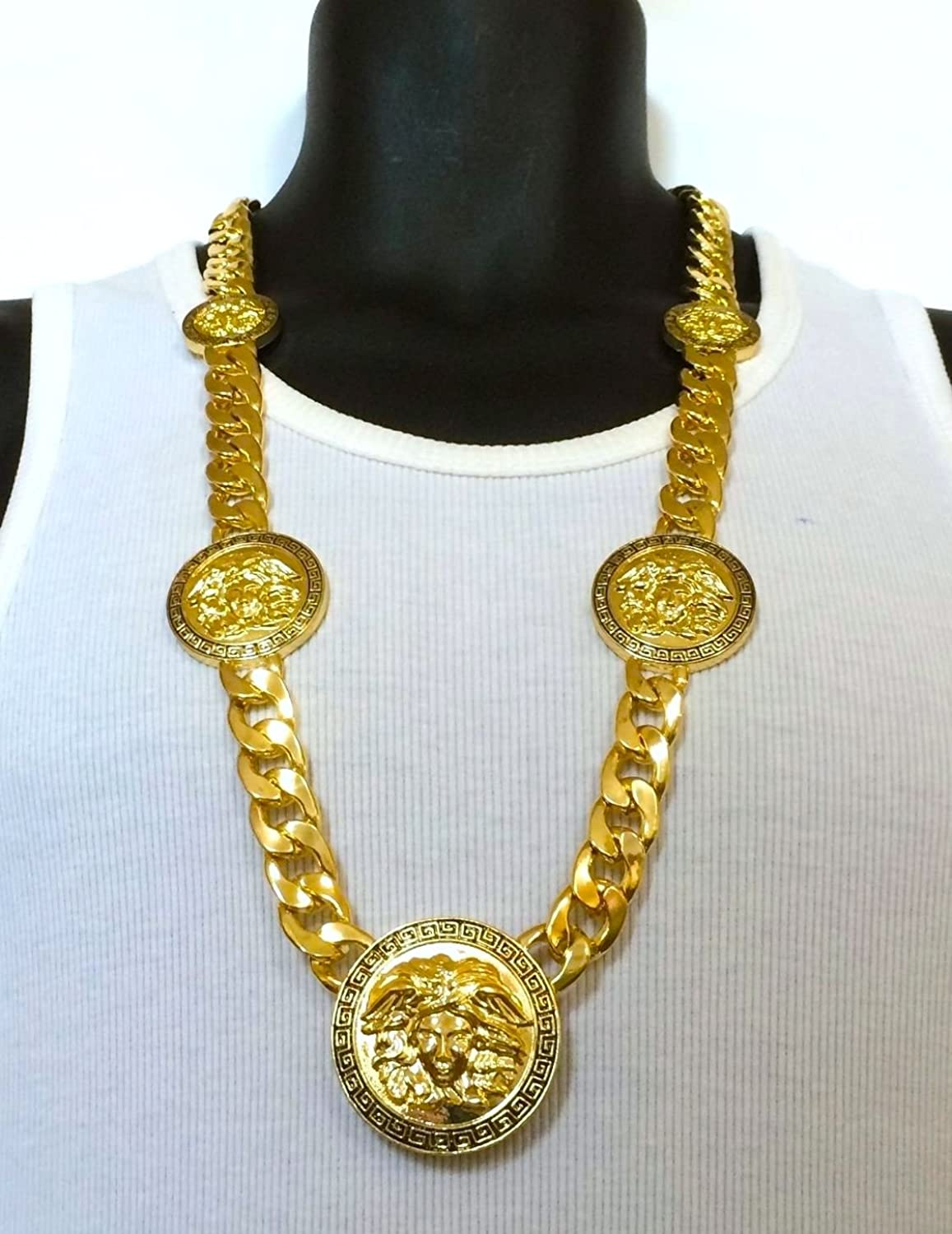 gold lock chain mens link bling jewelz necklace miami box cuban