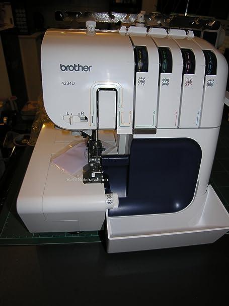 Brother 4234D - Máquina de Coser (Blanco, Overlock, Giratorio, 850 ...