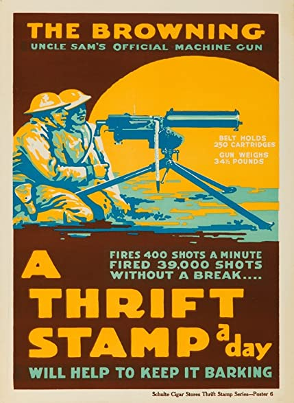 Amazon.com: The Browing - A Thrift Stamp a Day Vintage Poster (24x36 ...