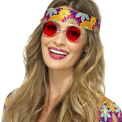 NET TOYS Gafas de Hippy - Rojo | Lunetas Retro Años 60 ...