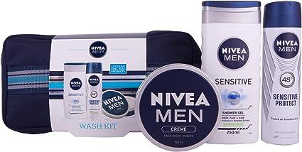 Neceser de regalo Nivea para hombre con 3 productos: Amazon.es: Belleza