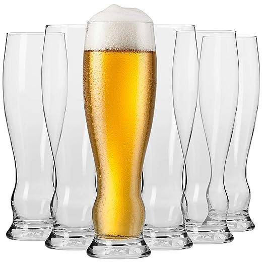Krosno Vasos Copas de Weizen Trigo Cerveza | Conjunto 6 Piezas ...