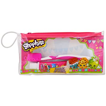 Brush Buddies Shopkins Toothbrushing Travel Kit 3 Piece Kit