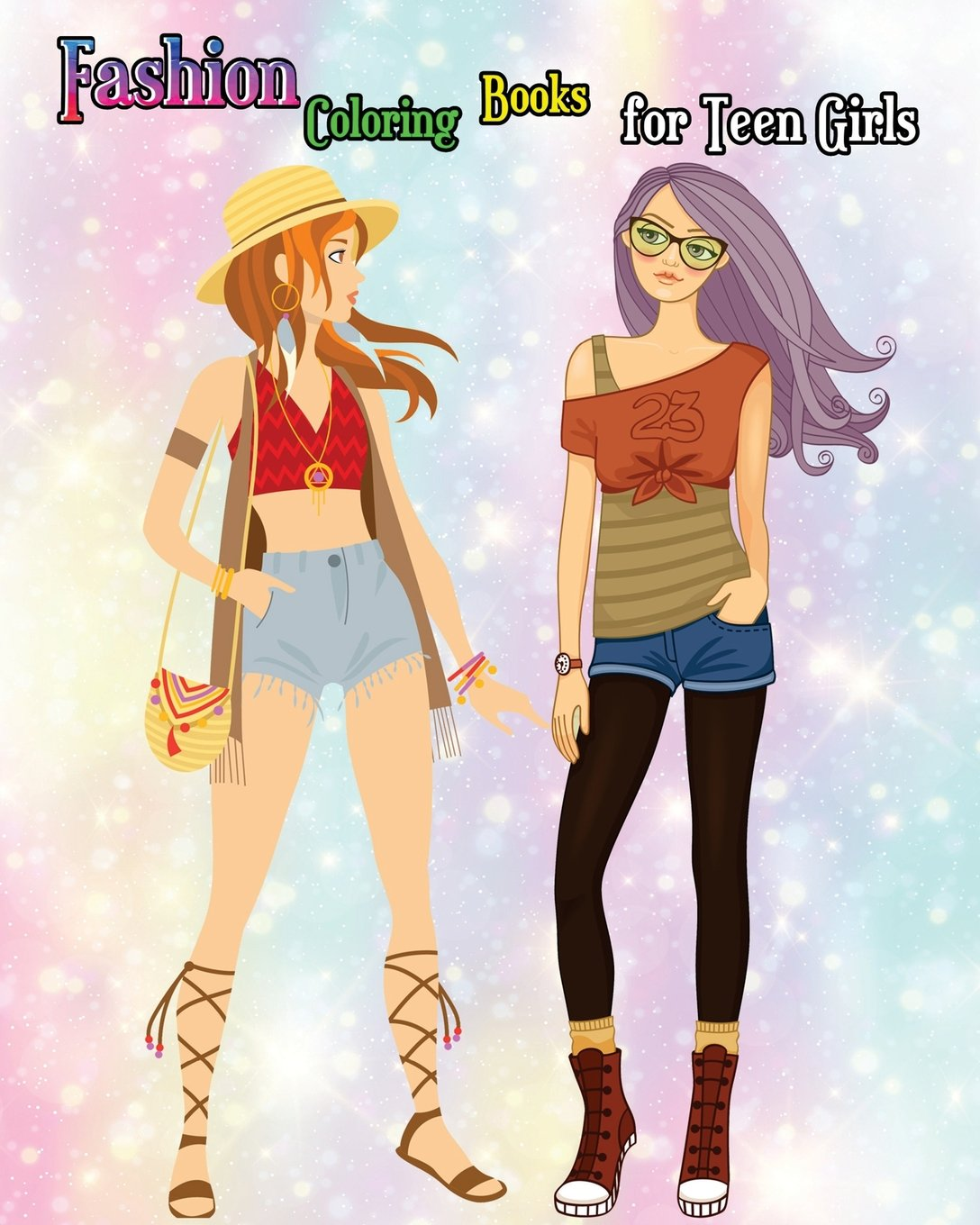 Fashion Coloring Books For Teen Girls Lovely Girl Drawings Book A Hand Drawn Lover