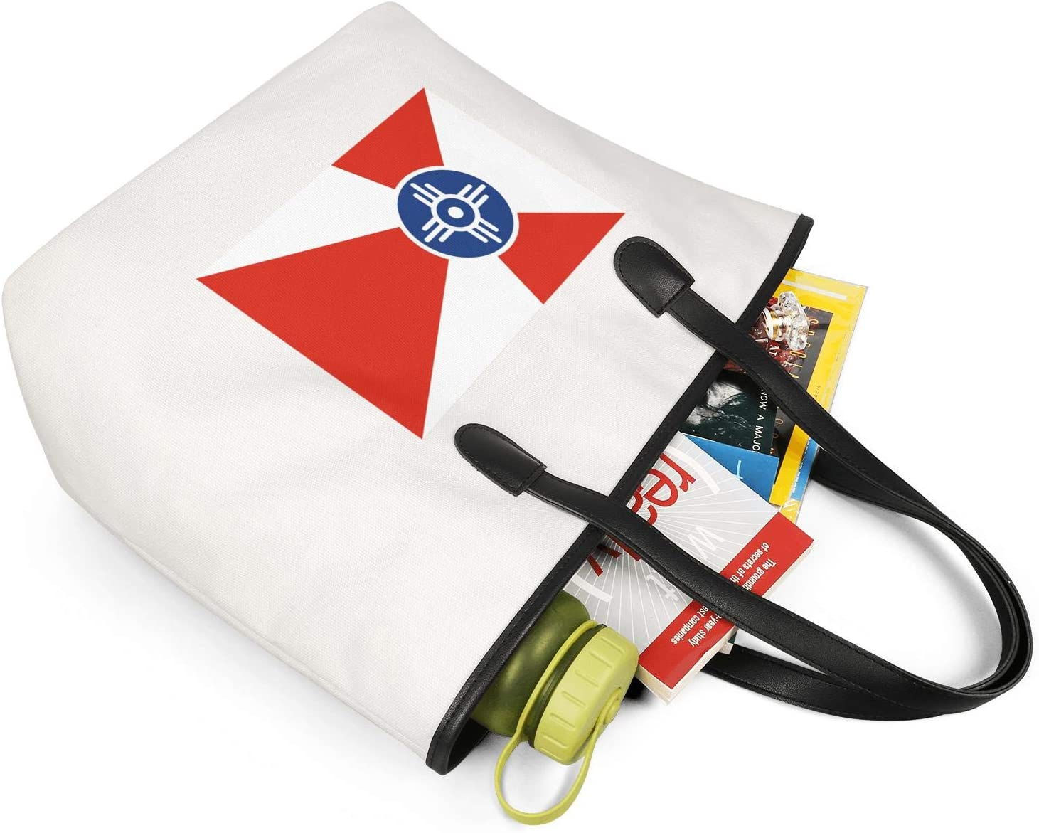 12.5X14 Inches Cute Zip Canvas Large Tote Bag Crazy Filipino American Flag Lady Beach Bag Handles Shoulder Bag Women Purse Grocery Bag Fashion Handbags Tote Bag Top Handle Satchel Purse