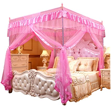Amazoncom Mengersi Princess 4 Corners Post Bed Curtain Canopy