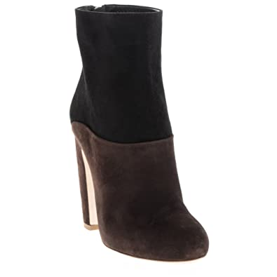 f36cb2c79f9a Miu Miu Women s Two-Tone Suede Booties Leather Brown 37 M EU