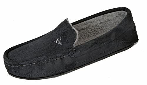 Dunlop - Pantuflas Mocasines de Tela Hombre, Color Negro, Talla 47 EU: Amazon.es: Zapatos y complementos