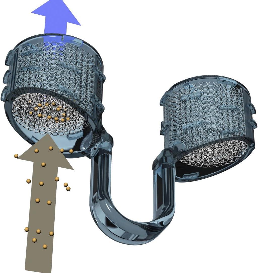 Sistema de FILTROS nasales de PARTICULAS Best Breathe® Filter, ref.: 05018, envase de 3 Porta Filtros tallas S, M y XL (uno de cada) incluye 30 filtros de recambio. ¡Para filtrar POLVO, SUCIEDAD, POLE