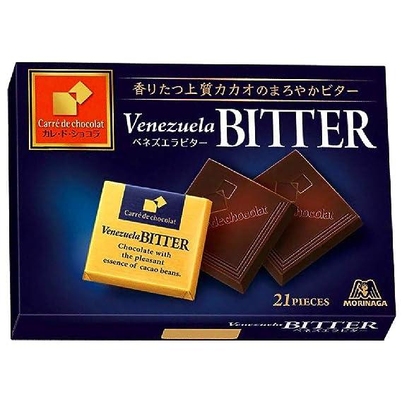 Morinaga Calle de Venezuela Chocolate Bitter: caja de 21 hojas X6