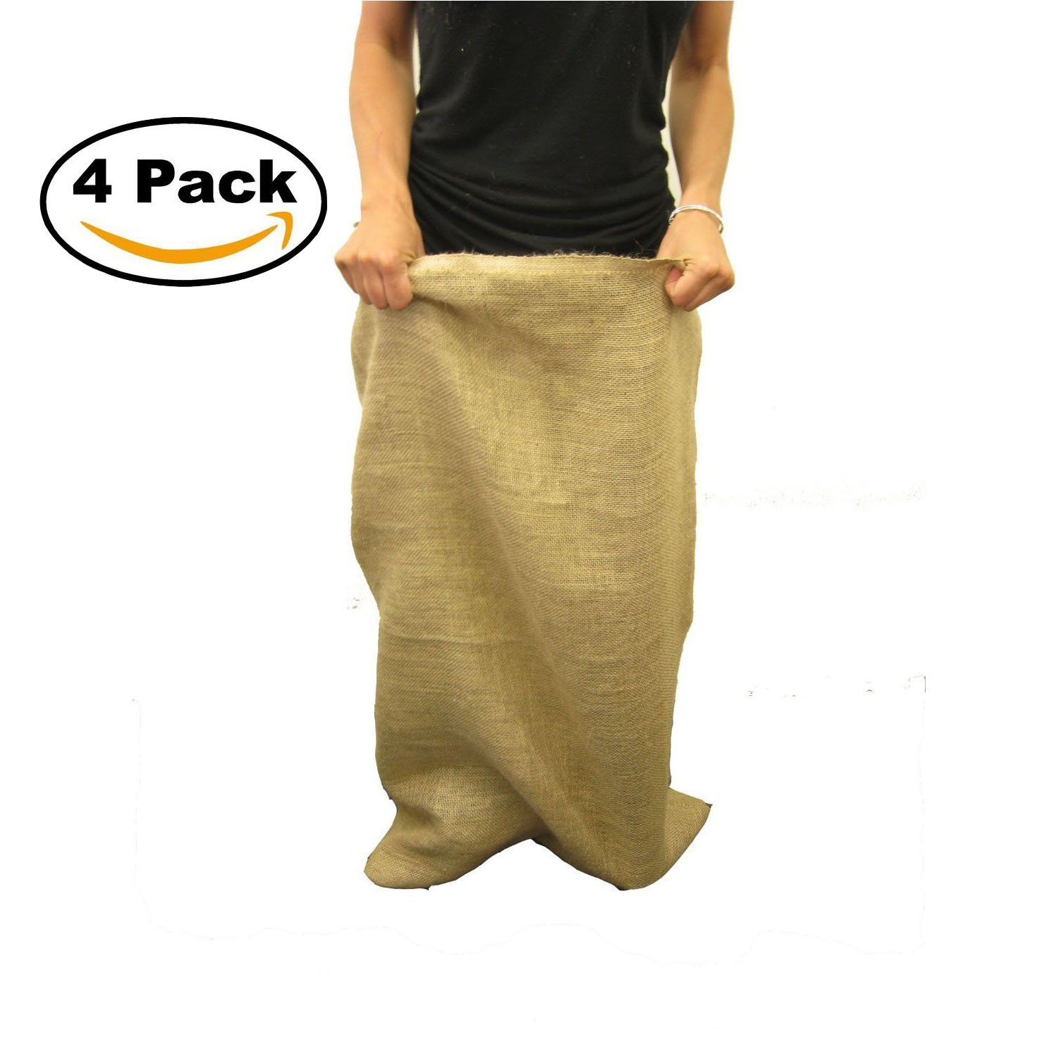 LA Linen Burlap Potato Sacks 23x40, Pack 4 by The Great Sack race