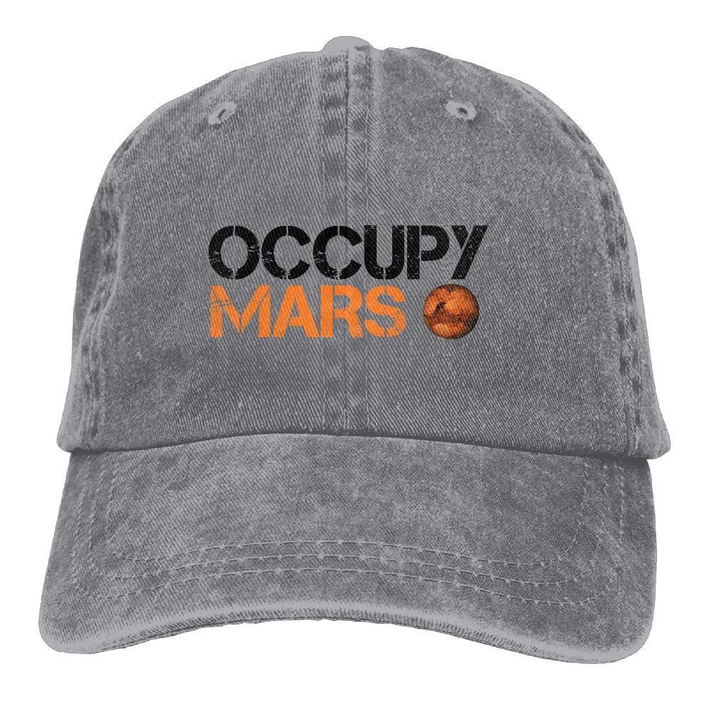8581adfa52f1c Occupy Mars Baseball Cap Dad Hat Adjustable Hat Visor Caps at Amazon Men s  Clothing store