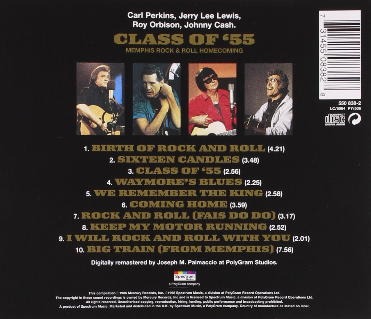 Class Of `55 -  Cash, Johnny/Jerry Lee Lewis/Roy Orbison/Carl Perkins