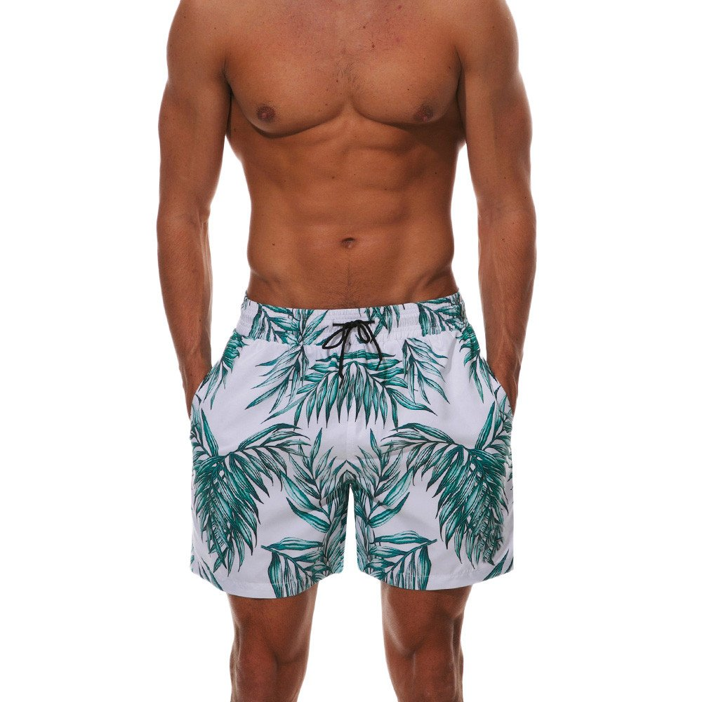Men's Beach Shorts With Pockets,PASHY Men's Sports Tropic Hawaiian style Quick Dry Bermudas Trunks Board Pants