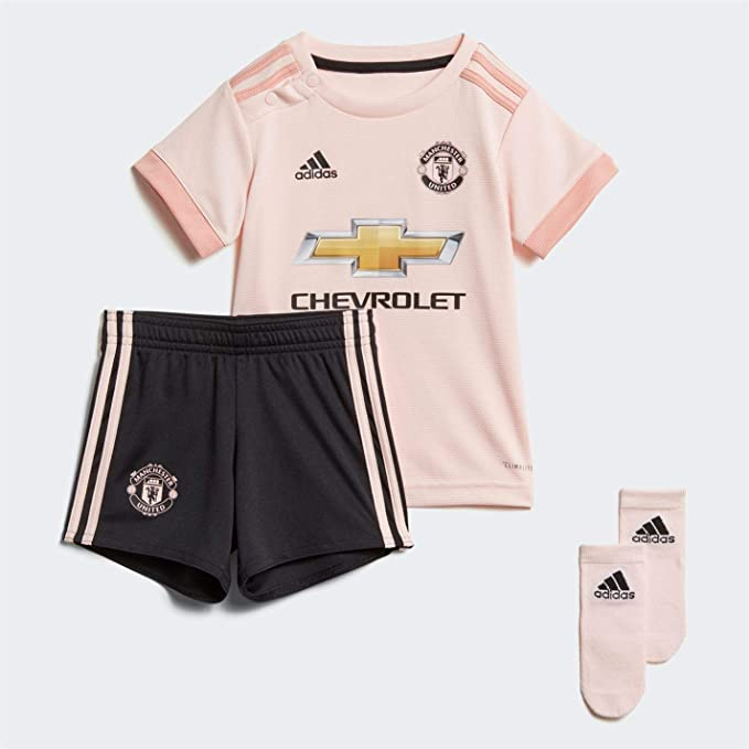 brand new a7e1b 67611 adidas Boys Manchester United Away Baby Kit 2018 2019 Pink 9 ...